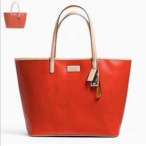 • Coach • Metro Saffiano Tote Leather Orange